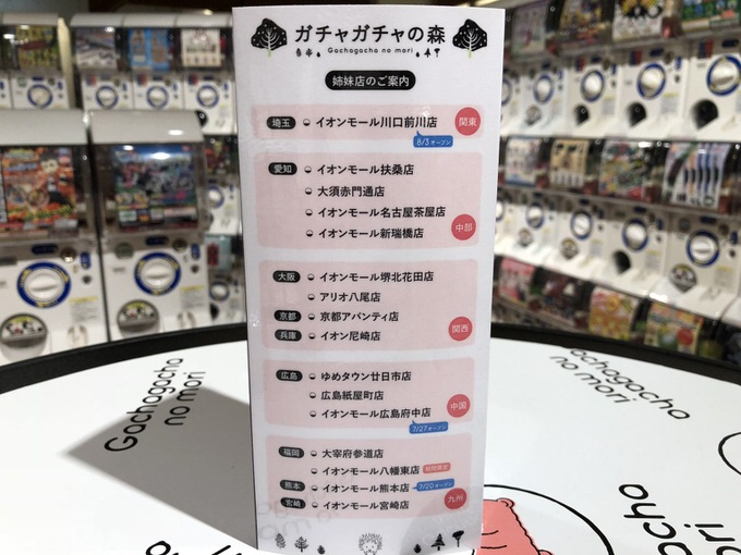 ガチャガチャ 広島